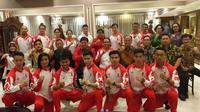Acara pelepasan Tim Wushu Indonesia ke SEA Games 2019 yang dilakukan Menpora Zainudin Amali di kediamannya Widya Chandra Jakarta, Rabu (27/11/2019). (Dok. Istimewa)