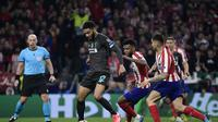 Atletico Madrid saat meladeni Liverpool dalam leg pertama babak 16 besar Liga Champions, Rabu (19/2/2020) dinihari WIB (Oscar Del Pozo / AFP)