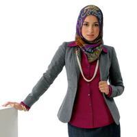 Ilustrasi hijab office look. (via: istimewa)