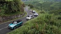 Menjajal kemampuan mobil Mini terbaru di jalanan pegunungan (ist)