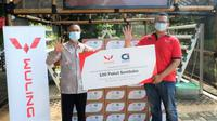 Cortezian Indonesia menyalurkan donasi 100 paket sembako untuk Balai Lansia Budi Dharma Margahayu, Bekasi Timur, Jawa Barat. (Wuling)