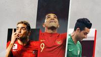Cristian Gonzalez, Beto Goncalves, Otavio Dutra. (Bola.com/Dody Iryawan)