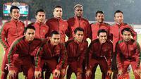 Penyengan Timnas Indonesia U-23, Alberto Goncalves, mengaku perasaannya campur aduk menjalani debut berseragam Merah Putih. (Twitter/@PSSI)