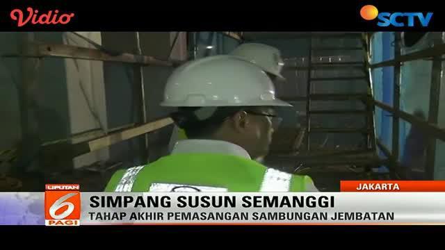 Pemasangan sambungan jembatan Simpang Susun Semanggi dihadiri langsung Menteri Perhubungan.