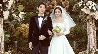 Akting Song Jong Ki dan Song Hye Kyo memang banyak membuat orang menjadi baper. Publik semakin baper saat pasangan yang dijuluki Song Song Couple ini menikah pada Oktober 2017. (Foto: instagram.com/kyo1122)