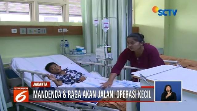 Dua bocah di yang alami luka bakar saat bermain di tempat pembuangan sampah di Kampung Kramat Blencong, Bekasi, jalani operasi kecil. Satu lainnya memilih rawat di rumah.