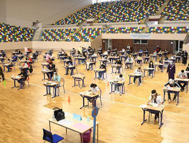 FOTO: Ujian Masuk Perguruan Tinggi di Tengah Pandemi COVID-19