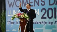 Ketua DPR RI Bambang Soesatyo menjelaskan bahwa Indonesia telah merumuskan dan menerapkan berbagai strategi untuk menciptakan lingkungan yang kondusif bagi peningkatan peran kaum perempuan.
