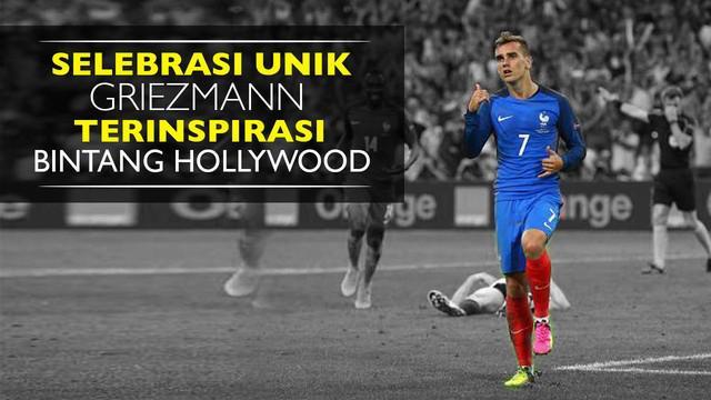 Video selebrasi gol unik Antoine Griezmann striker asal Prancis yang terinspirasi dari penyanyi Hip Hop Drake dan Aktor Ben Stiller.