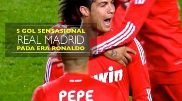 Video listikal 5 gol sensasional Real Madrid pada era Cristiano Ronaldo.