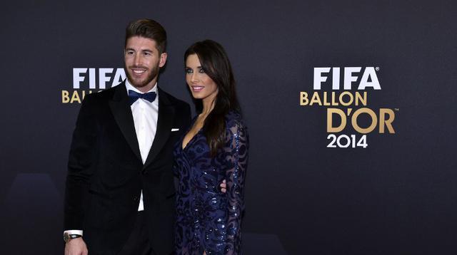 Sergio Ramos dan kekasih, Pilar Rubio (MICHAEL BUHOLZER / AFP)