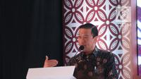 Kepala BKPM Thomas T Lembong (kiri) saat membuka Market Outlook 2019 di Jakarta, Rabu (5/12). Bank Mandiri memiliki nilai aset finansial yang dikelola (AUM) mencapai lebih dari Rp 170 triliun. (Liputan6.com/Angga Yuniar)