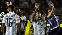 4. Argentina - Lionel Messi tentu masih penasaran dengan kegagalannya di final Piala Dunia 2014 setelah dikalahkan Jerman. Sudah lama publik negeri tango memimpikan gelar juara setelah era Diego Maradona. (AFP/Alejandro Pagni)