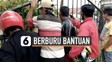 Bantuan masih sangat dibutuhkan para pengungsi korban gempa Majene. Di Mamuju Sulawesi Barat, sejumlah pengungsi berdesakan berburu bantuan tenda yang akan dibagikan.