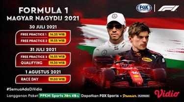Jadwal dan live streaming F1 GP Hungaria Pekan Ini di Vidio, 30 Juli - 1 Agustus 2021