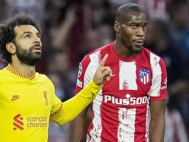Liverpool keluar sebagai pemenang saat bertandang ke markas Atletico Madrid dalam duel matchday 3 Grup B Liga Champions, Rabu (20/10/2021). (AP/Manu Fernandez)