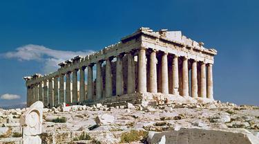 Kuil Parthenon, pemujaan Dewi Athena di Yunani