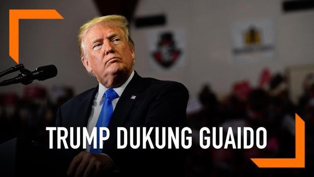 Presiden AS Donald Trump secara tegas mendukung Juan Guaido, Presiden sementara Venezuela. Hal ini disampaikan Trump lewat telepon kepada Guaido.