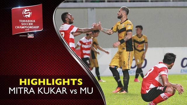 Video highlights TSC 2016 antara Mitra Kukar vs Madura United yang berakhir dengan skor 2-1 di Stadion Aji Imbut, Tenggarong.