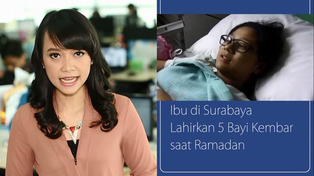 Daily TopNews hari ini akan menyajikan berita seputar seorang Ibu di Surabaya yang melahirkan 5 bayi kembar saat ramadan dan relawan Jokowi yang membagikan takjil di HI dalam rangka memperingati hari ulang tahun sang Presiden Indonesia tersebut.