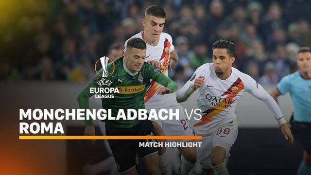 Berita video highlights kekalahan AS Roma dari Borussia Monchengladbach pada matchday 4 Grup J Liga Europa 2019-2020, Kamis (7/11/2019).