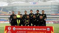Timnas Malaysia U-23 di Piala AFC U-23 2018. (Bola.com/Dok. FAM)