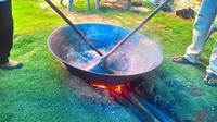 Menjelang Idul Fitri, banyak masyarakat di Rantau Prapat menyiapkan pembuatan dodol alame