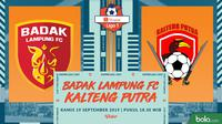 Shopee Liga 1 - Badak Lampung FC Vs Kalteng Putra (Bola.com/Adreanus Titus)