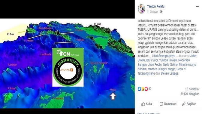 [Cek Fakta] Gambar Tangkapan Layar Foto Citra Satelit