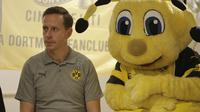 Legenda Borussia Dortmund, Jorg Heinrich, di Jakarta.  (Bola.com / Husni Mubarok)