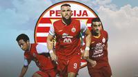 Persija Jakarta - Osvaldo Haay, Marko Simic, Otavio Dutra (Bola.com/Adreanus Titus)