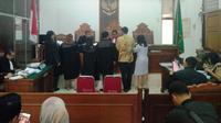 Sidang praperadilan mantan Ketua Umum PPP Romahurmuziy alias Romi di Pengadilan Negeri Jakarta Selatan, Kamis (9/5/2019). (Merdeka/Ronald)