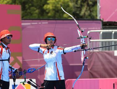 Foto: Tim Panahan Beregu Campuran Indonesia Terhenti di Perempat Final Olimpiade Tokyo 2020