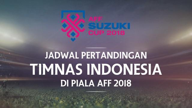 Timnas Indonesia akan memulai petualangan di Piala AFF 2018 dalam hitungan hari. Indonesia harus mengawali turnamen dua tahunan itu dengan bertandang ke kandang kawan. Berikut berita video jadwal Timnas Indonesia di Piala AFF 2018