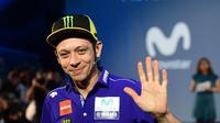 Valentino Rossi memperbaiki hasil yang diraihnya di tes MotoGP (PIERRE-PHILIPPE MARCOU / AFP)