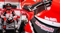 Pembalap Astra Honda Racing Team, Dimas Ekky Pratama, meraih hasil bagus pada awal musim FIM CEV Moto2 European Championship 2018. (Astra Honda Motor)