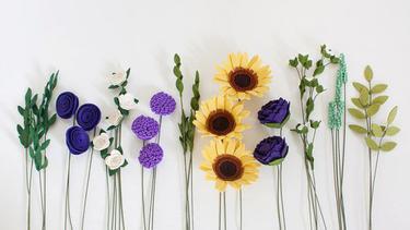 Ragam Kreasi Bunga Cantik Dari Kain Flanel Fashion Fimela Com