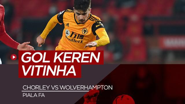 Berita video gol spektakuler pemain Wolves, Vitinha saat melawan Chorley di Piala FA, Sabtu dini hari (23/1/21)