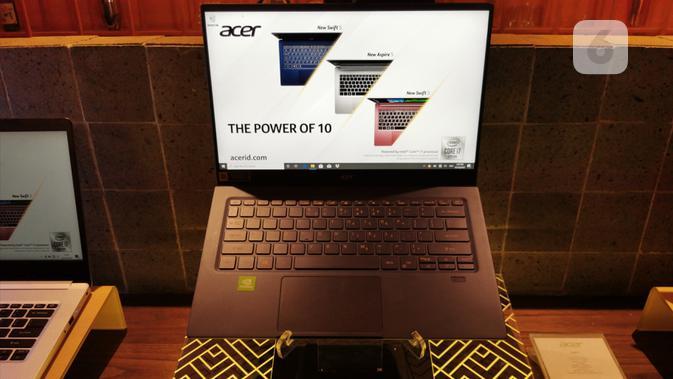 Acer umumkan deretan produk laptop terbarunya di Jakarta, Rabu (16/10/2019). (Liputan6.com/ M. Wahyu Hidayat)