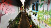 Lorong di Kampung Ekologi Kota Batu. (Times Indonesia/Adhitya Hendra)
