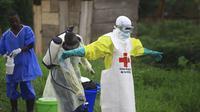Salah satu wabah Ebola terburuk di dunia meneror Republik Demokratik Kongo selama 2018 (AP/Al-hadji Kudro Maliro)