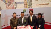 PBSI resmi menandatangani kontrak kerja sama berdurasi dua tahun dengan Daihatsu selaku sponsor anyar Indonesia Masters 2018. (Bola.com/Tyo Harsono)