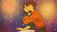 Ilustrasi ini pasti membuat Anda merindukan pasangan. Foto/Ilustrasi: Brightside.me