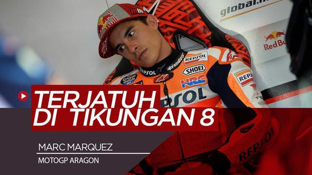 Berita Video Marc Marquez Terjatuh di FP2 MotoGP Aragon