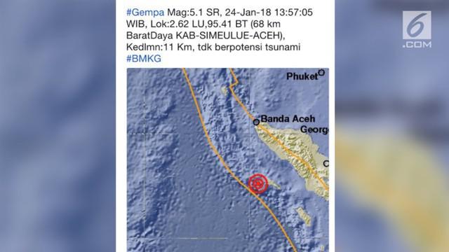 Gempa bumi terjadi di sejumlah daerah di Indonesia. Tak hanya di Banten, gempa juga melanda Aceh pada hari ini.