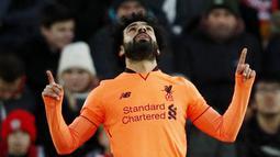 2. Mohamed Salah (Liverpool) - 22 Gol (1 Penalti). (AFP/Adrian Dennis)
