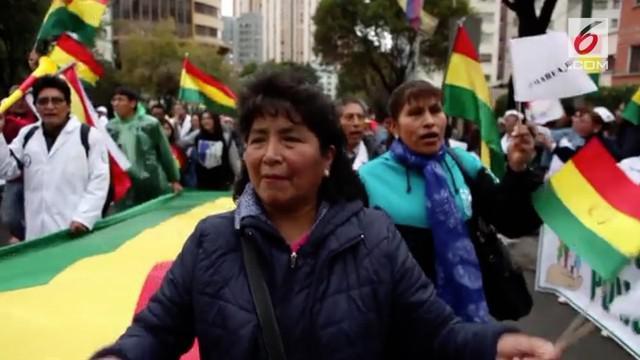 Upaya Presiden Indian pertama, Evo Morales untuk kembali memimpin Bolivia keempat kalinya diprotes warga.