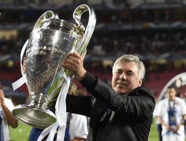 Foto Liga Spanyol: 4 Trofi Simbol Kesuksesan Carlo Ancelotti di Periode Pertamanya Bersama Real Madrid