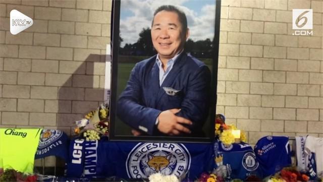 Klub sepak bola Inggris Leicester City pada hari Minggu mengumumkan bahwa pemiliknya, Vichai Srivaddhanaprabha, termasuk di antara lima orang yang tewas, ketika sebuah helikopter jatuh di samping stadion.