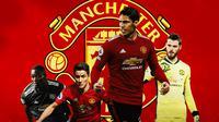 Manchester United - Eric Baily, Ander Herrera, Raphael Varane, David De Gea (Bola.com/Adreanus Titus)